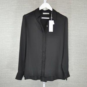 NWT Vince Black Silk Shirt - 6